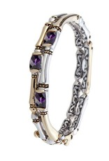 JOHN MEDEIROS B5036-A30L COR COLLECTION BRACELET TWO ROW HINGED BANGLE