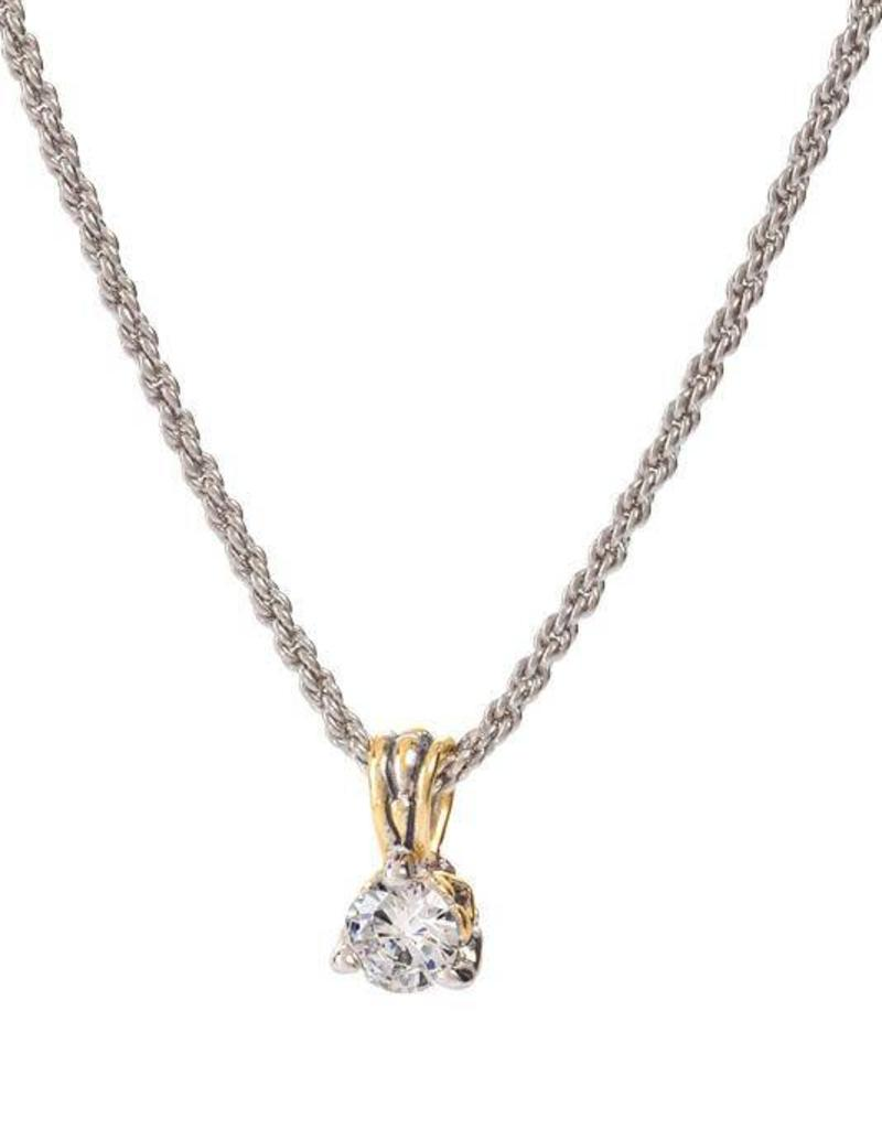 JOHN MEDEIROS K5017-AF05 BEIJOS 7MM CZ PRONG SET PENDANT NECKLACE