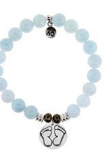 T JAZELLE TJ10459 BLUE AQUAMARINE-BABYFEET