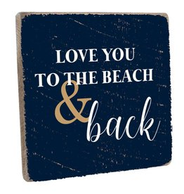 RUSTIC MARLIN Vintage Square 1212 To The Beach + Back - Navy, White,
