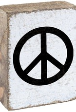 RUSTIC MARLIN Rustic Block Peace - White, Black