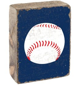 RUSTIC MARLIN Rustic Block Baseball - Blueberry, White, Red