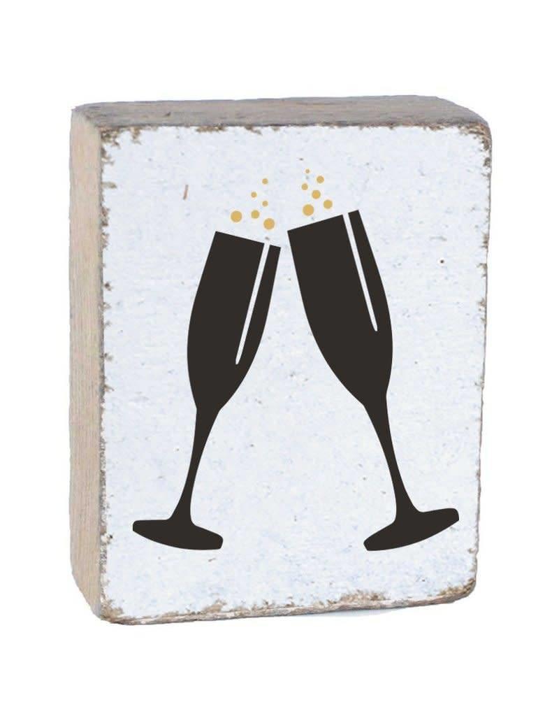 RUSTIC MARLIN Rustic Block Champagne - White, Black, Gold