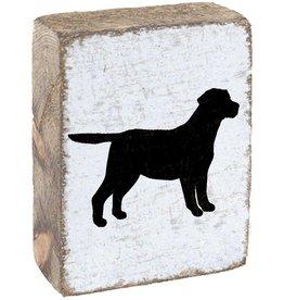 RUSTIC MARLIN Rustic Block Dog - White, Black