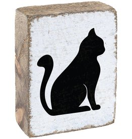 RUSTIC MARLIN Rustic Block Cat - White, Black