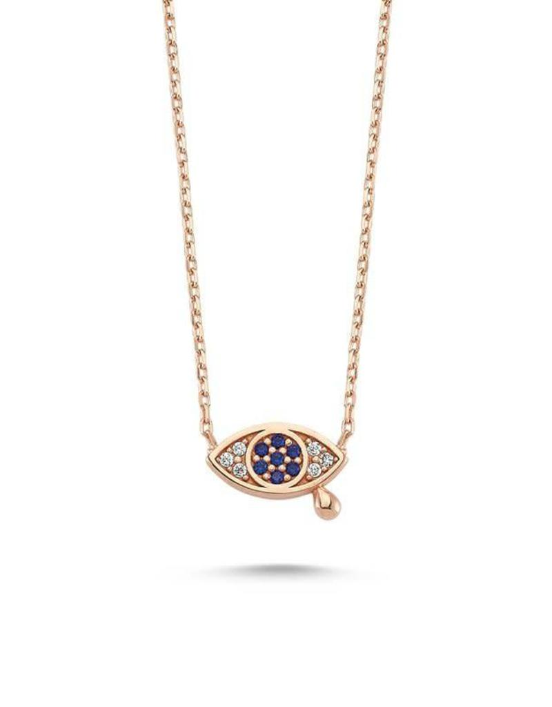 AMORIUM 3321-1852 EVIL EYE WITH TEARS ROSE GOLD