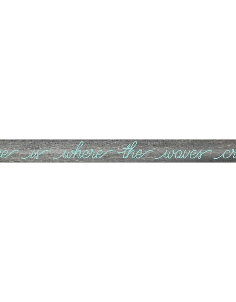 RUSTIC MARLIN Barn Board 0336 Home Is Where The Waves Crash - Grey