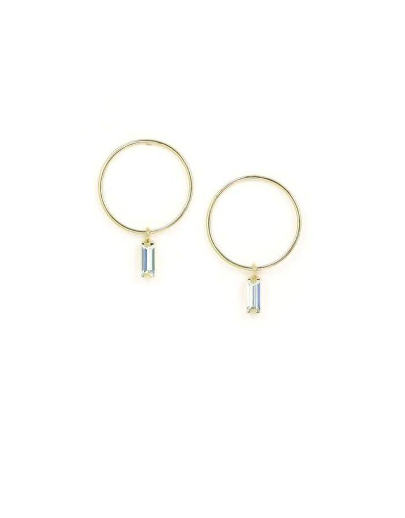 LOVERS TEMPO 1FA18008-GLD COLETTE DROP HOOP EARRINGS - GOLD