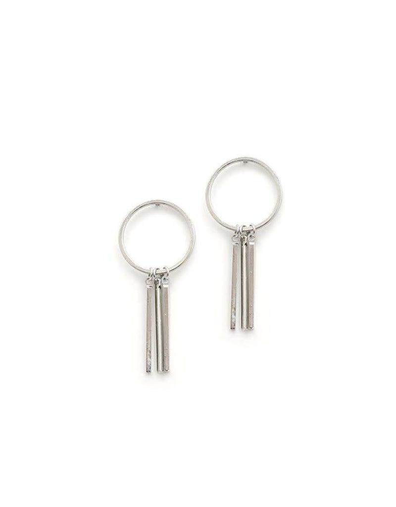 LOVERS TEMPO 1FW16018-SLV RAY OF LIGHT EARRINGS - SILVER