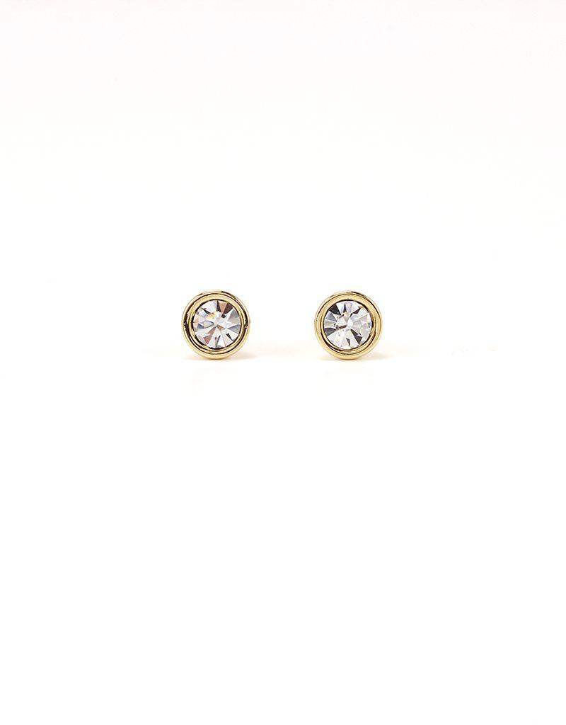 LOVERS TEMPO 1HH13001-CLR SWAROVSKI MINI POST EARRINGS - CLEAR