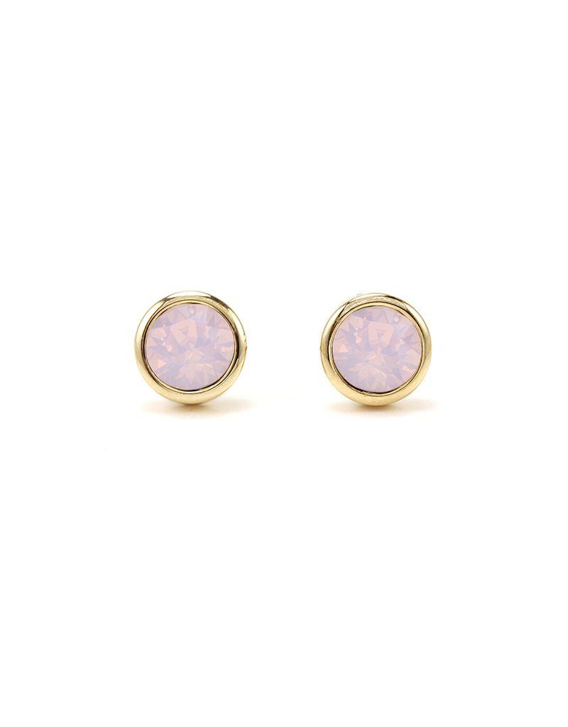 LOVERS TEMPO 1HH13002-PNK SWAROVSKI STUD EARRINGS - PINK OPAL