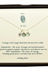 B U SCN675 COURAGE IS THE MAGIC SILVER NECKLACE