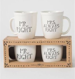 NATURAL LIFE MUGS051 MR. AND MRS MUG