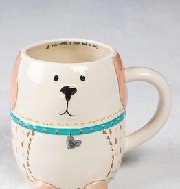 NATURAL LIFE MUG242 FOLK CRITTER MUG DOG