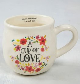 NATURAL LIFE MUG283 HAPPY MUG CUP OF LOVE
