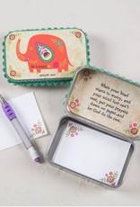 NATURAL LIFE PBX038 PRAYER BOX ELEPHANT BE HAPPY