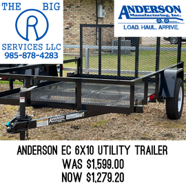 Anderson Manufacturing ANDERSON EC610LS UTILITY TRAILER