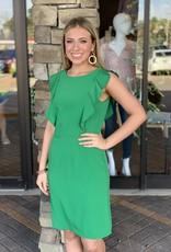 Jade Green Ruffles Dress