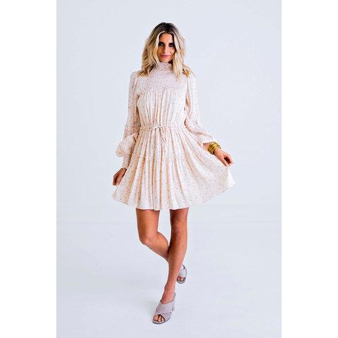 / Floral Ditzy Smock Boho Dress