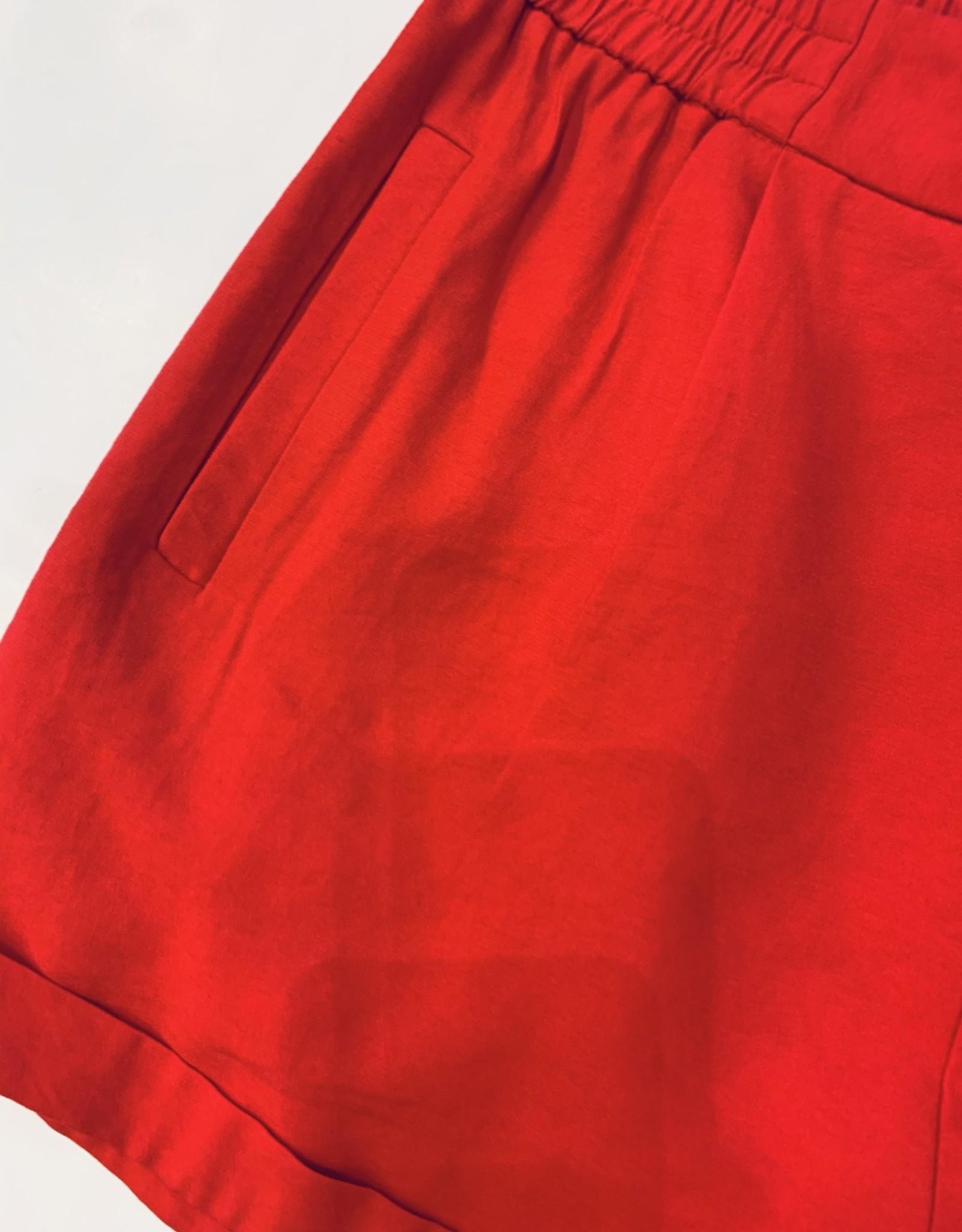 Joy Joy -- RED CUFF SHORT