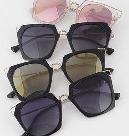 Sunglasses Hexagonal Framed Sunglasses