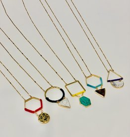 JM Jewelry Geometric Necklace