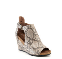 Taupe Snake Wedge