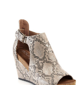 Corkys Taupe Snake Wedge