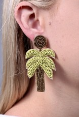 Caroline Hill Beaded Palm Tree Post Earring