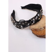 Black PLaza Sequin Headband