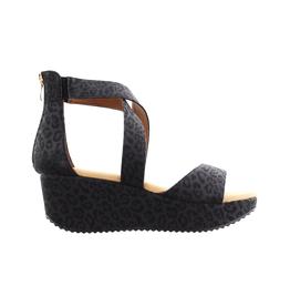 Corkys Black Leopard Sandal