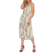 Yellow/Beige Snake Print Dress