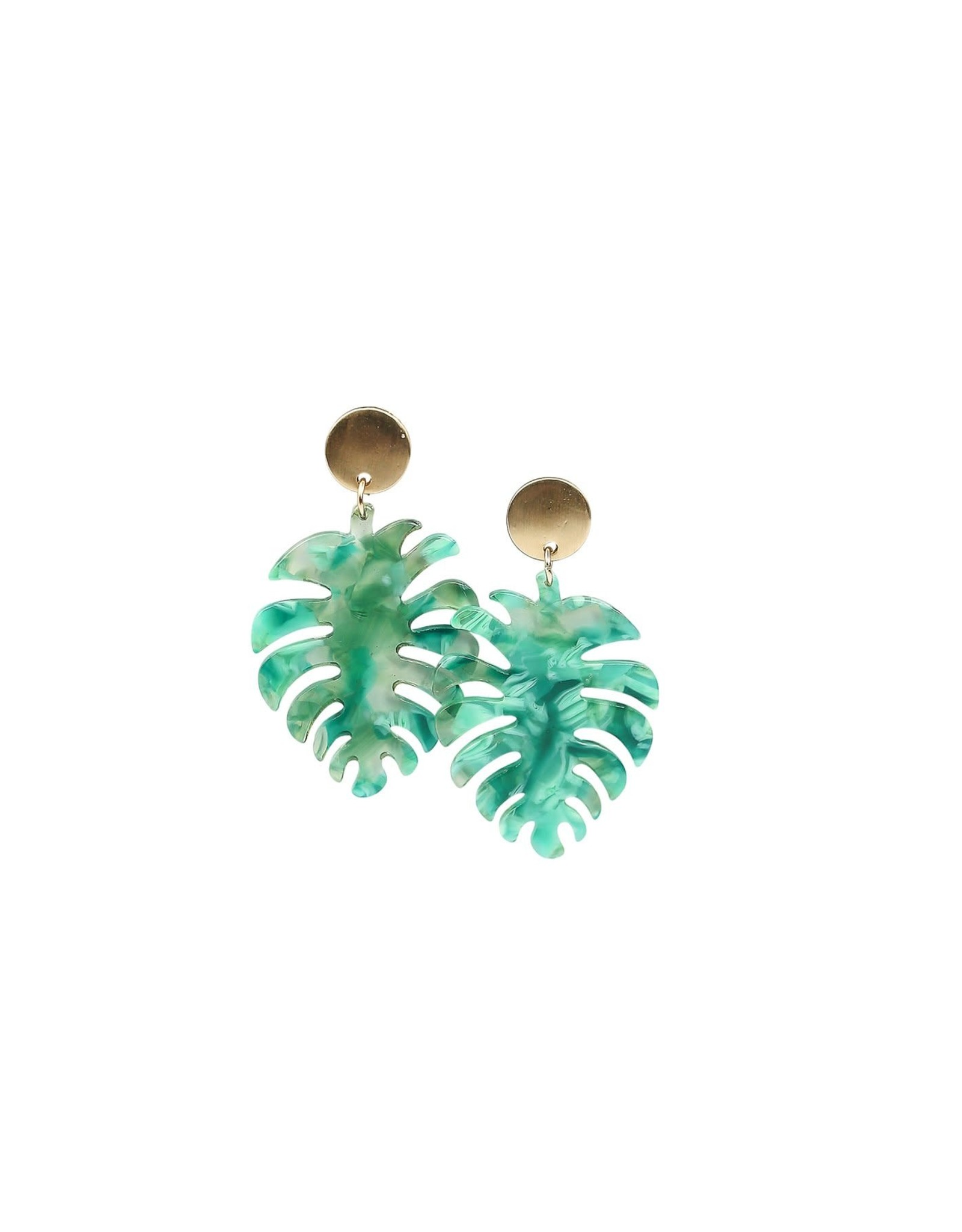Palm Spring Earring- Green