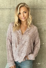 BLUSH LEOPARD POPPY TOP