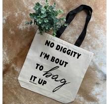 No Diggity Canvas Tote Bag