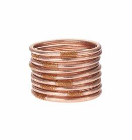 BuDhaGirl Rose Gold All Weather Bracelet Set 9-M