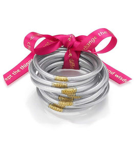 BuDhaGirl Silver All Weather Bangles