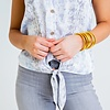 Snake Button Down Front Tank