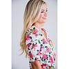 Floral Poplin Puff Sleeve Bodysuit