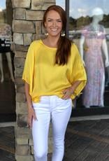 Fifteen Twenty Yellow Modern Sleeve Top