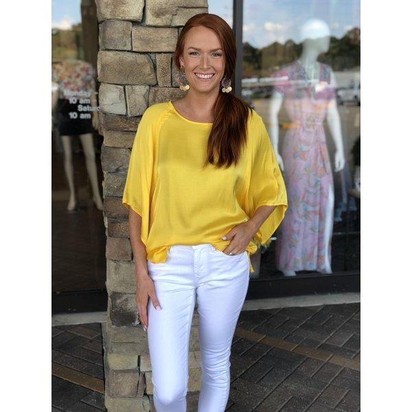 Yellow Modern Sleeve Top