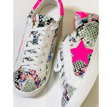 Fuchsia Snake Star Sneaker