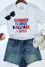 jane marie Summer Nights Ballpark Lights Tee