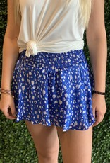 Karlie Blue Animal smock waist skort