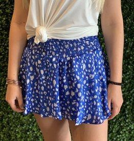 Karlie Blue Animal smock waist skort