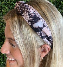 Caroline Hill Peachy pink Snake Headband