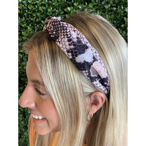 Peachy pink Snake Headband
