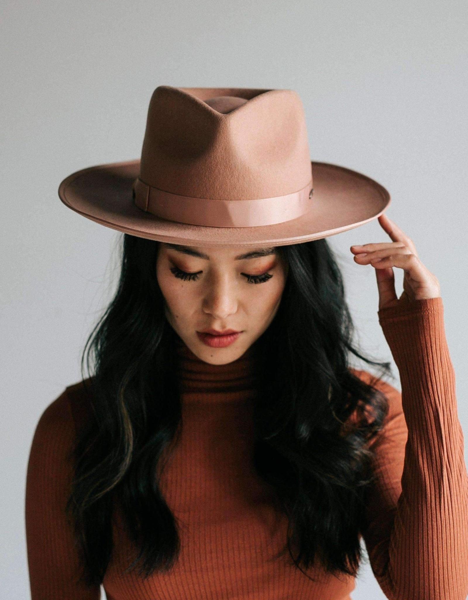 Gigi Pip Monroe Dusty Pink- Womens Rancher Hat