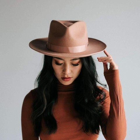 Monroe Dusty Pink- Womens Rancher Hat