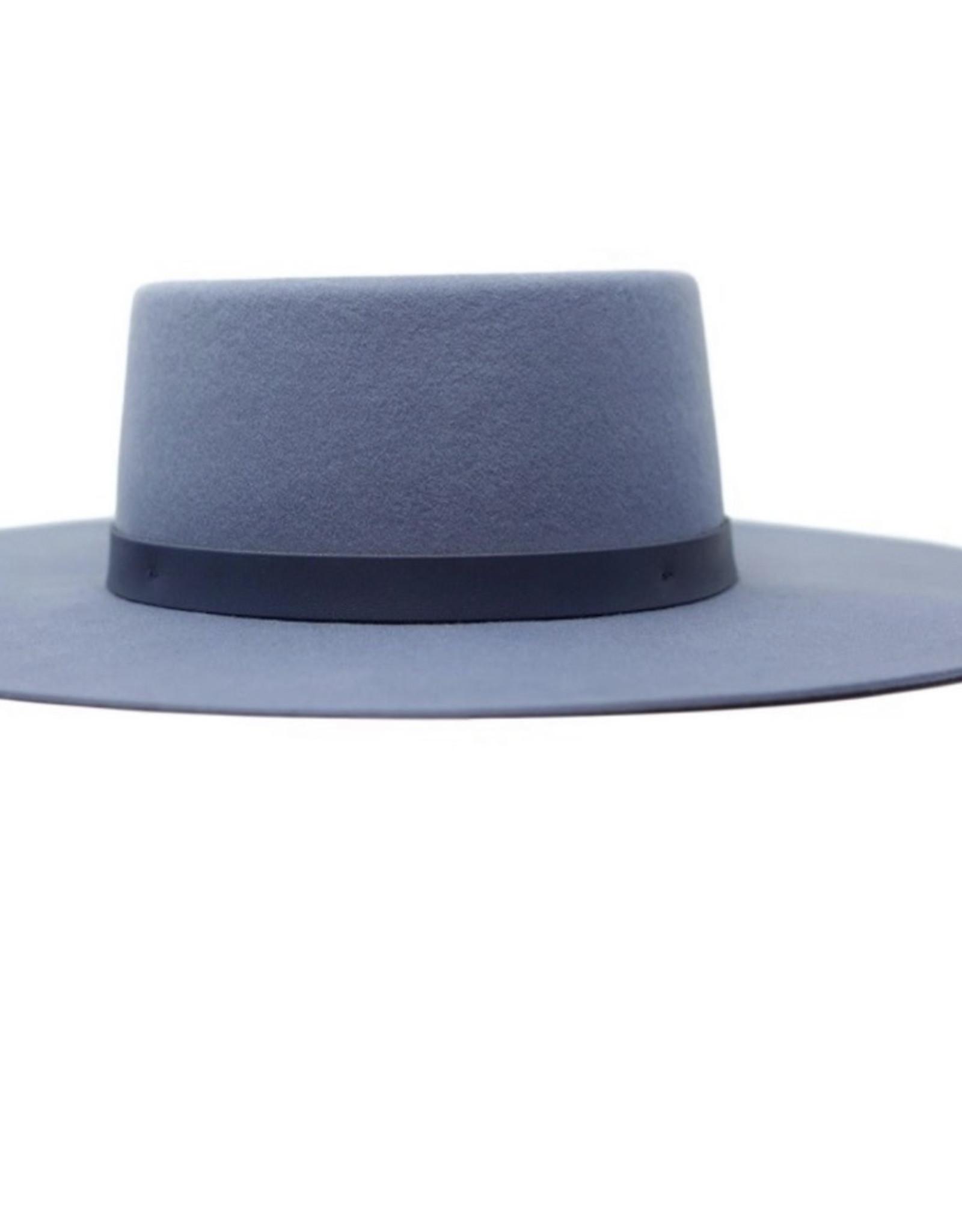 Olive & Pique Powder Blue Boater Hat